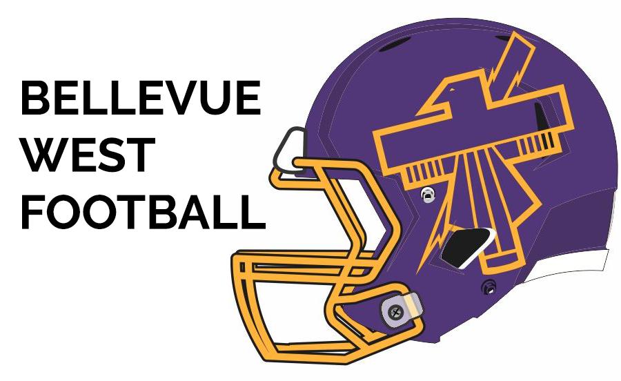 Bellevue West Football Logo LG