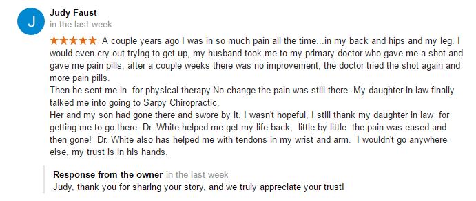 Chiropractic Papillion NE Testimonial 22